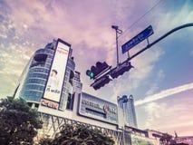 Central värld, Bangkok, Thailand Arkivfoto