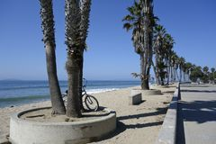 Central Ventura Beach Promenade Stock Photography