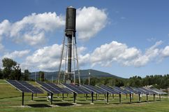 Central Vermont Public Service Solar Project. A view of the Central Vermont Public Service Solar Project and Renewable Education Center royalty free stock photography