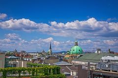Central Vienna Cityscape. High angle view of roofs Innere Stadt royalty free stock photo