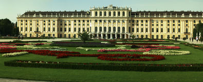 Central view of Schoenbrunn Palace Stock Photo