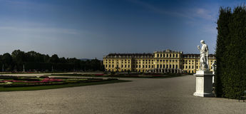 Central view of Schoenbrunn Palace Stock Image