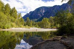 Central Washington State Back Country on the Snoqualmie River royalty free stock photo