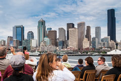 Central Waterfront and downtown Seattle Royalty Free Stock Photos