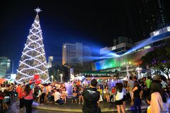 Central  world  New year  city lights Royalty Free Stock Photo