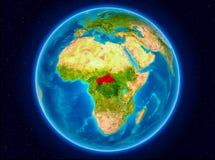 Centrala Afrika på jord Arkivfoton