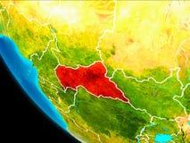 Centrala Afrika på jord från utrymme Arkivfoton