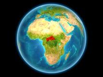 Centrala Afrika på planetjord Royaltyfria Foton