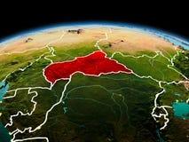 Centrala Afrika på planetjord i utrymme Royaltyfria Foton