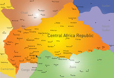 Centrala Afrika republik Royaltyfria Foton