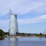 Centrala byggande Swedbank i Riga, Lettland Swedbank har 9 5 miljon återförsäljnings- kunder och 622.000 företags kunder i Sverig Fotografering för Bildbyråer