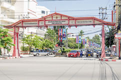 Centrala Hua Hin, Thailand Arkivfoto