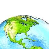 Centrala i Północna Ameryka na modelu ziemia royalty ilustracja