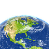 Centrala i Północna Ameryka na planety ziemi ilustracja wektor