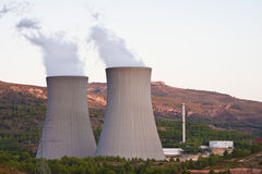 centrala jądrowa obraz stock