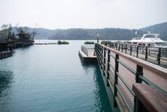 centrala ljuva lakemoonberg placerar avkopplingrestsunen taiwan riktigt Royaltyfri Fotografi