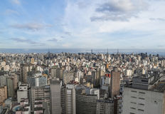 Centrala Sao Paulo i brazil Arkivfoto
