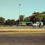 Centrala secterient New Delhi Arkivfoton