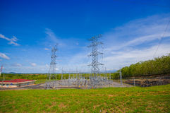 Centrale électrique électrique au Panama, par le Panamerican Photographie stock