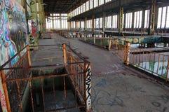 Centrale électrique abandonnée images libres de droits