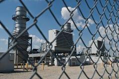 Centrale électrique clôturée Photos libres de droits