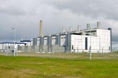 Centrale électrique d'Eems ; Ports maritimes de Groningue Image stock