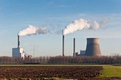 Centrale électrique en Hollandes photos libres de droits