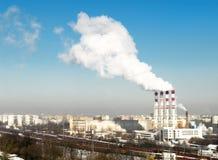 Centrale électrique fonctionnante image libre de droits