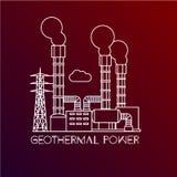 Centrale électrique géothermique Images libres de droits