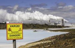 Centrale électrique géothermique images stock
