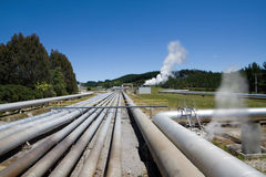 Centrale électrique géothermique de Wairakei, Nouvelle Zélande Image libre de droits