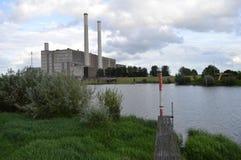 Centrale électrique Harculo ou ijsselcentrale Images libres de droits