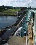 Centrale électrique hydraulique Image libre de droits