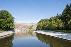 Centrale électrique hydraulique Photos libres de droits