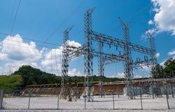Centrale électrique hydraulique Photos stock