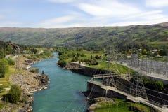 Centrale électrique hydraulique de la Nouvelle Zélande Photos stock