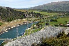 Centrale électrique hydraulique de la Nouvelle Zélande Photographie stock