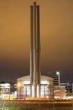 Centrale électrique la nuit Photo libre de droits