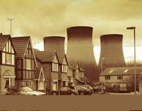 Centrale électrique nucléaire Image libre de droits