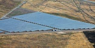 Centrale électrique photovoltaïque près de Kazanlak Images libres de droits