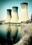 Centrale électrique - réchauffement global photos libres de droits