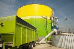 Centrale : Énergie de Biorenewable Image stock