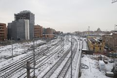 Centrale болонья жульничает neve стоковые изображения rf