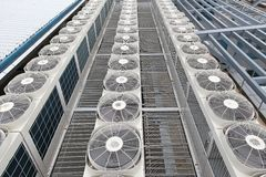 Centrale airconditioners Stock Afbeelding
