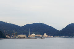 Centrale atomica di Angra, Rio de Janeiro, Brasile Fotografia Stock
