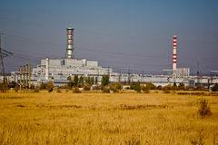Centrale atomica di Kursk in autunno fotografie stock