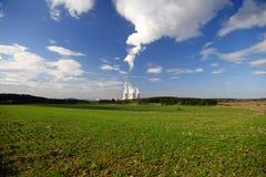Centrale atomica Temelin in repubblica Ceca Europa Fotografia Stock Libera da Diritti