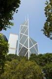 Centrale bank van de Toren van China, Hongkong stock afbeeldingen
