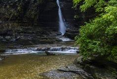Centrale Cascade van Watkins Glen State Park Stock Afbeeldingen