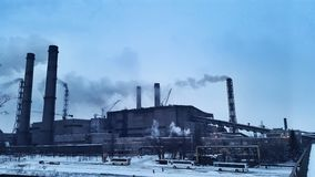 Centrale Contamination d'environnement photos stock